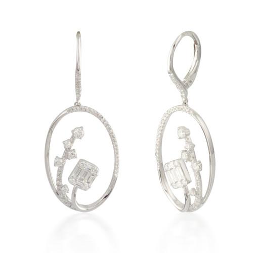 1.00ctw Diamond Cluster Earrings