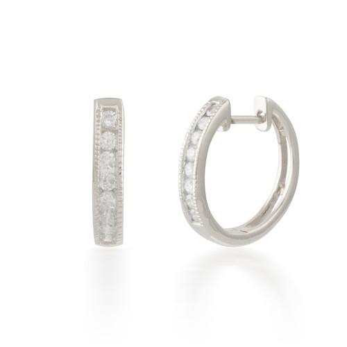 0.25ctw Diamond  Hoop Earring
