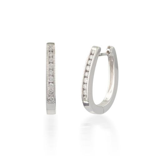 0.33ctw Diamond Hoop Earrings