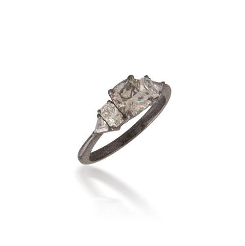Black Rhodium and Diamond Ring