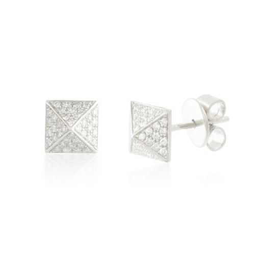 0.19ctw Diamond Square Stud Earrings