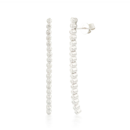 0.70ctw Flexable Diamond Stud Earrings