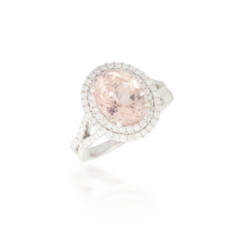 3.51ct Morganite and Diamond Ring