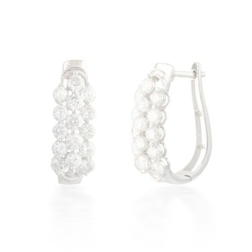 3.50ctw Diamond Hoop Earrings