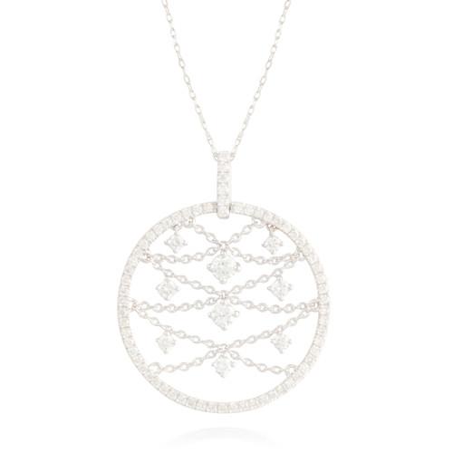 0.85ctw Diamond Circle Pendant