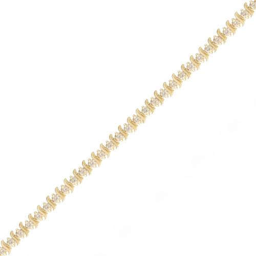 3.56ctw Slink Diamond Tennis Bracelet