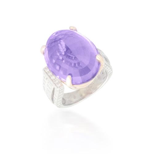 Huge Amethyst and Diamond Ring