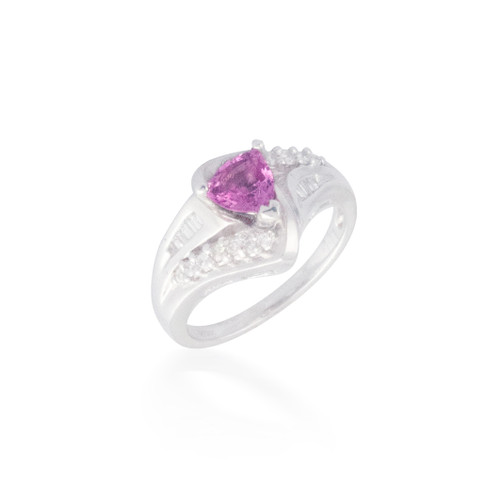 Intricate Pink Sapphire and Diamond Ring