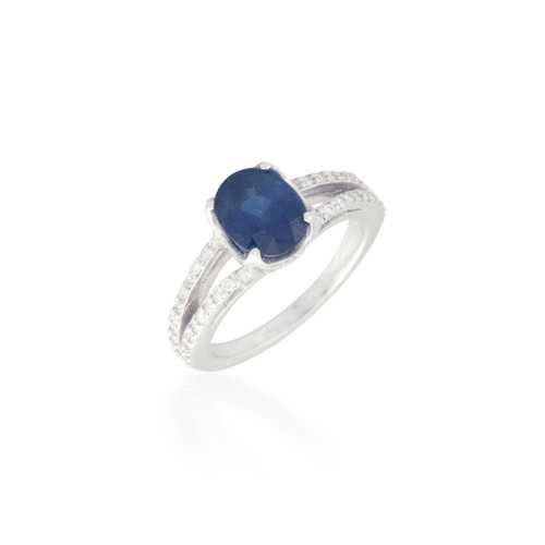 Sapphire and Diamond Ring 6