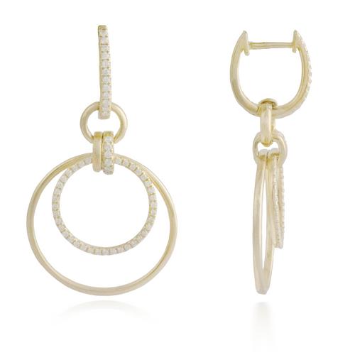 Yellow Gold Diamond Hoop Earring