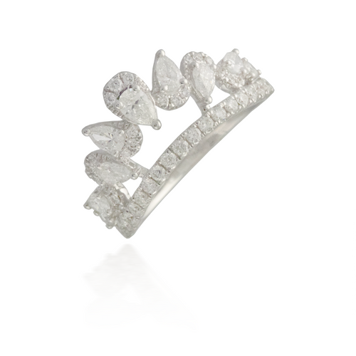 Princess Cut White Gold Engagement Ring