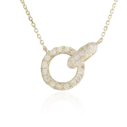 Interlocking Yellow Gold Necklace