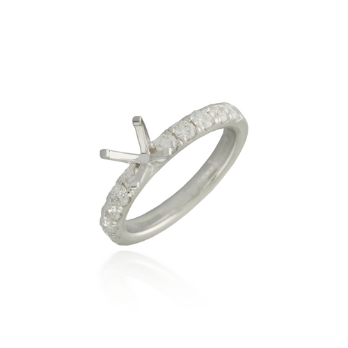 Diamond Engagement Ring Semi-Mounting