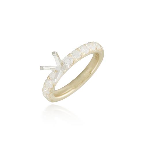 Diamond Yellow Engagement Ring Semi-Mounting 2