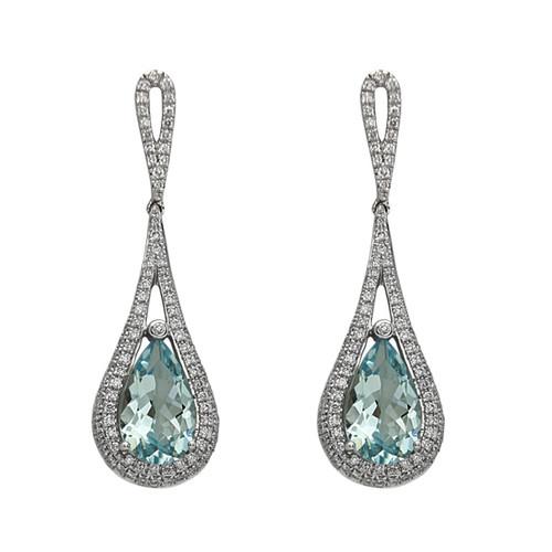 Bassali Aquamarine Raindrop Earrings