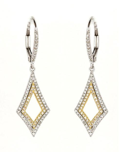 Madison L Queen of Hearts Diamond Drop Earrings