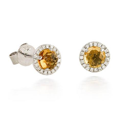 Bassali Citrine Diamond Earrings