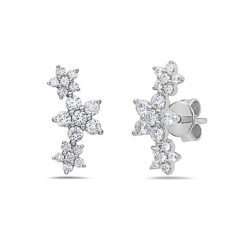 Bassali Diamond Flower Earrings