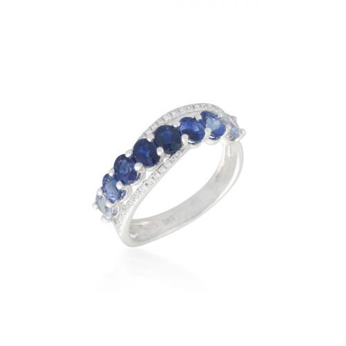 Bassali Ombre Sapphire Ring