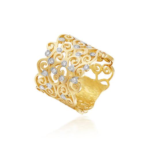 Bassali Wide Swirl Ring