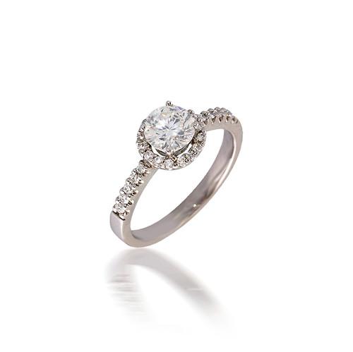Diamond Halo Engagement Ring