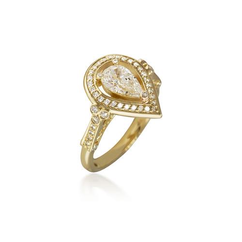 Royal Diamond Pear Halo Engagement Ring