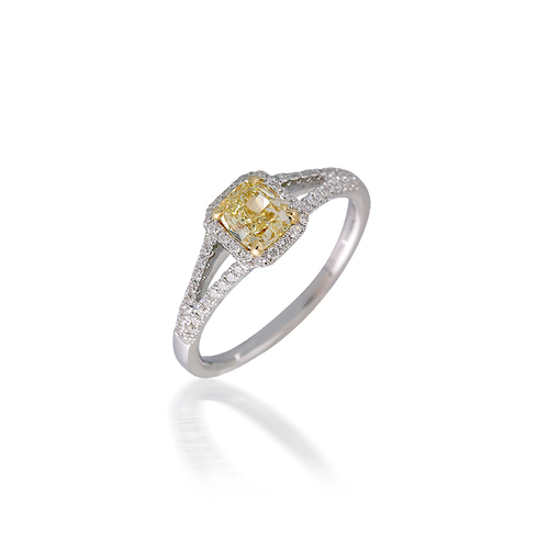 Radiant Yellow Diamond Engagement Ring
