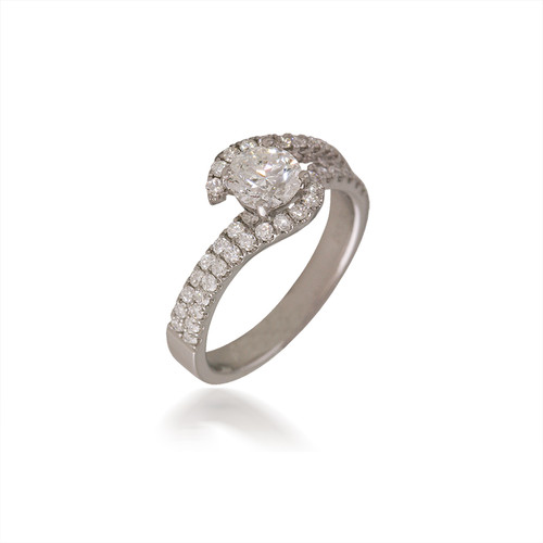 Diamond Bypass Engagement Ring