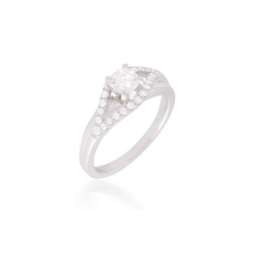Diamond Eye of Horus Engagement Ring