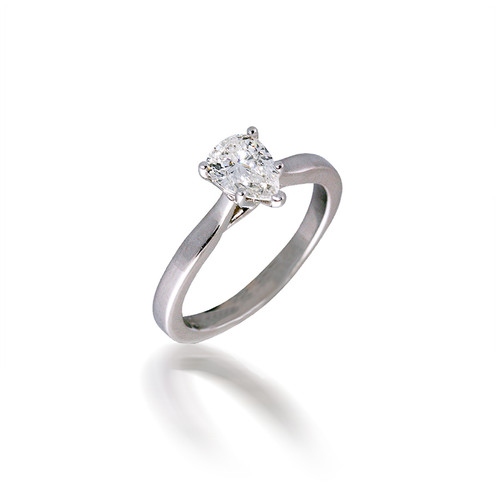 Diamond Pear Solitaire Engagement Ring