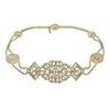 Jennifer Behr Octavia Antique Gold Crystal Headpiece