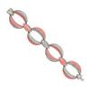 Ciner Light Coral Pave Link Bracelet and Earrings Set
