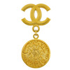 Vintage Chanel CC Logo Paris Pendant Brooch