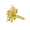 Kenneth Jay Lane Satin Gold Dogwood Flower Ring