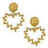 Vintage Yves Saint Laurent Gold Heart Earrings