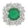 Kenneth Jay Lane Large Emerald Centre Brooch