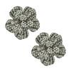 Siman Tu Crystal Flower Gunmetal Earrings