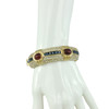 Ciner Ruby Sapphire Crystal Bracelet