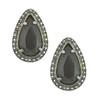 Badgley Mischka Ruby Gunmetal Earrings