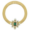 Ciner Emerald Flower Collar Necklace