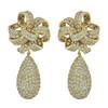 Ciner Elle Crystal Drop Earrings