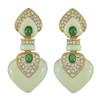 Ciner Ivory Emerald Drop Earrings