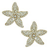 Ciner Large Gold Crystal Starfish Earrings