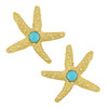 Kenneth Jay Lane Turquoise Starfish Earrings