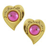 Vintage Yves Saint Laurent Pink Heart Earrings