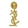 Vintage Yves Saint Laurent YSL Logo Drop Earrings