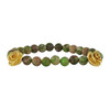 LeiVanKash Rose Bead Green Bracelet