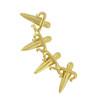 LeiVanKash Gold Dagger Ear Cuff