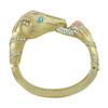 Ciner Gold Coral Turquoise Horse Bracelet