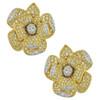 Kenneth Jay Lane Crystal Gold Flower Earrings